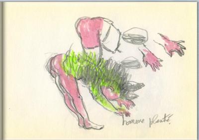 Carnet de dessin de Marine Joatton à feuilleter
