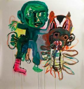 Peinture sur papier 140X140